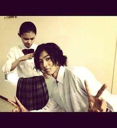 "Hana Sugisaki x Kento Yamazaki, J drama ""Kuro no onna kyoushi"", 2012  [Eng. sub] http://www.gooddrama.net/japanese-drama/kuro-no-onna-kyoushi-episode-1、"