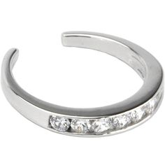 Product Details Sterling Silver Toe Ring. Made with Finest Quality of Cubic Zirconia .925 Silver with .925 Engraved on the Inside of the Ring. Specifications .9