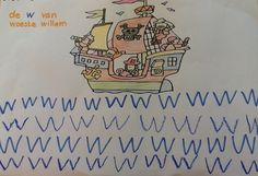 piraten knutselen schrijven letter w