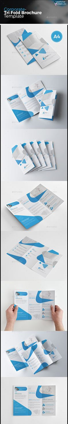 Corporate Tri-fold Brochure Vector Template EPS, AI #design Download: http://graphicriver.net/item/corporate-trifold-brochure/13669613?ref=ksioks