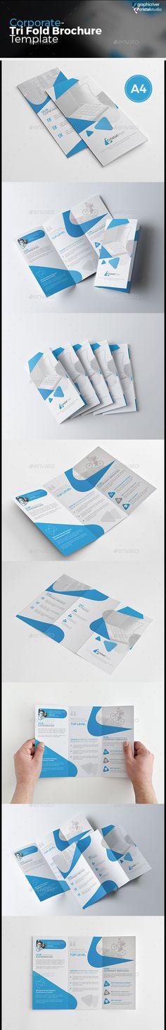 Corporate Tri-fold Brochure Vector Template EPS, AI #design Download: http://graphicriver.net/item/corporate-trifold-brochure/13669613?ref=ksioks