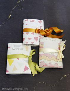Bettina Johnson of Oh Everything Handmade - mini-notebook tutorial