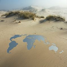 map in the sand