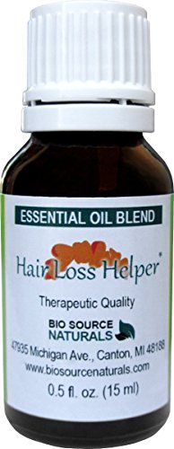 Biosource Naturals Hair Loss Helper Pure Essential Oil 0.5 fl oz (15 ml) Bottle - Improved Scent: Essential oils can be used for hair loss as they cleanse the scalp to encourage follicle growth and c...