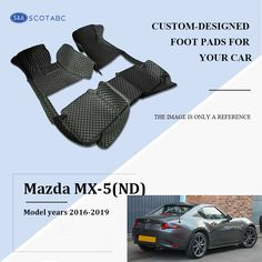 HD-Mart Car Floor Mats Compatible with Lexus ES 2019 Custom Fit for Black White Rubber Car Floor Liners Set All Weather Protection Heavy Duty