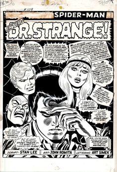 Amazing Spider-Man #109 p 1 SPLASH by John Romita Sr