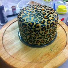 Leopard print cake :)