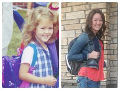 Graduation Party Idea.  Display pictures from 1st Day of Kindergarten and last day of High School, using the same poses!