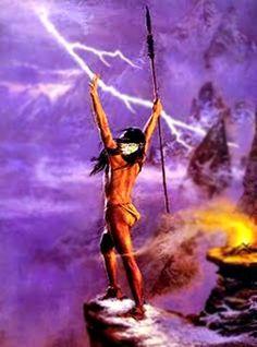 Deus da mitologia tupi-guarani. Segundo a lenda, teria sido enviado para matar o índio malvado Pirarucu, que desafiou Tupã, mas fracassou, pois Pirarucu se jogou no rio. Como castigo o índio transformou-se em um peixe, que leva o seu nome.