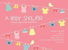 Laundry baby shower invite
