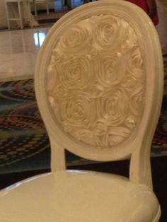 Make your sweetheart chairs special.  You can later incorporate them in your home dining room.  Great keepsake!