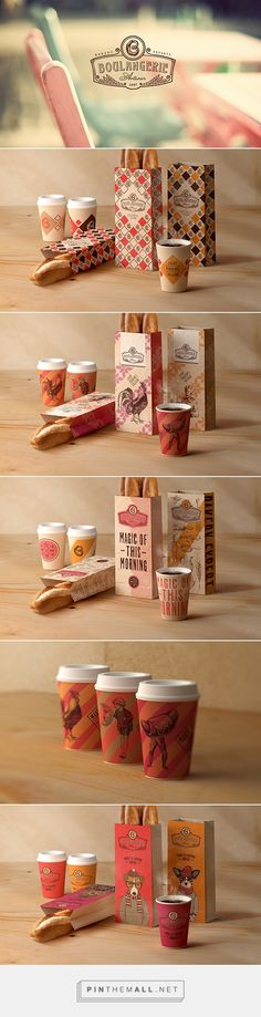 Branding, art direction, graphic design and packaging for Boulangerie ID by Tough Slate Design curated by Packaging Diva PD. A cozy identity for cafe-bakery with fresh morning coffee. Graphic Design Branding, Corporate Design, Identity Design, Logo Design, Corporate Identity, Bakery Branding, Food Branding, Cool Packaging, Brand Packaging