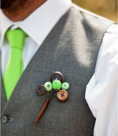 Button buttonhole or boutonniere. Great texture without being a flower. #men #wedding #accessory