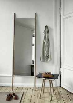 """Here we showcase a a collection of perfectly minimal interior design examples for you to use as inspiration.Check out the previous post in the series: Inspiring Examples Of Minimal Interior Design tml-render-layout=""""inline""""> Leaning Floor Mirror, Standing Mirror, Floor Mirrors, Wall Mirrors, Interior Design Examples, Interior Design Inspiration, Design Ideas, Interior Blogs, Simple Interior"""