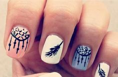 dreamcatcher nails ♥