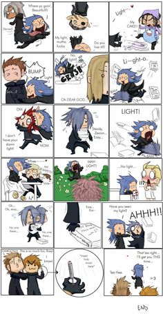 Saix and his light. At first I thought saix was on drugs or something