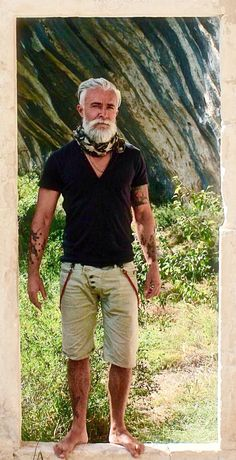 Alessandro Manfredini. Extremely handsome and extraordinarily well groomed. He inspires me that going grey is a good thing!