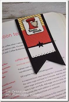 marque page pour livre de cuisine, tampon bois en italien http://florilegesdesign.canalblog.com/