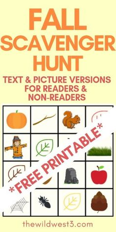 This fall scavenger hunt for kids printable is the perfect fall activity to do with kids. It's a great learning activity for toddler and preschoolers because one version of the fall scavenger hunt list is picture-based. The text-based version is also a great seasonal way to entertain older kids. Fall and Halloween themed activities are a perfect way to entertain kids. Check it out for your free printables! #fallactivities #scavengerhunt #toddleractivities #preschoolactivities