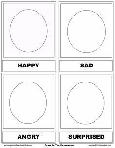 identify emotions preschool worksheets | Free Emotion Flashcards-Printable Flashcards For Kids