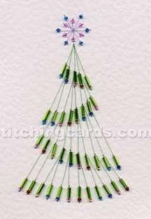 Stitching Cards - Bead Tree