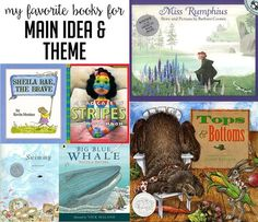 picture books for main idea and theme in first and second grade, interactive read aloud