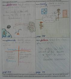 """7th grader--Tyler--also won a Vocabulary Collecting Award with this awesome collection of weekly words from """"Flowers for Algernon.""""  Good work, Tyler.  Check out my new page of online vocabulary collecting resources at this site:  http://corbettharrison.com/Vocabulary.htm"""