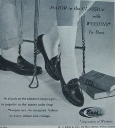 The Weejan penny loafers of the 60's were a classic.  Remember, the guys wore them without socks.  They were so groovy back then..