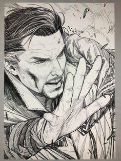 Be reborn as a sorcerer by 백작伯爵 @sh2jw  doctor strange fan art
