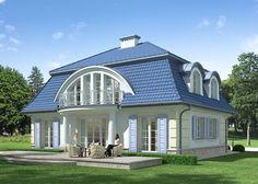 Dom jednorodzinny, parterowy, podpiwniczony z poddaszem użytkowym.