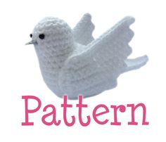 Crochet Amigurumi Dove Bird Pattern by TheCrochetCabin on Etsy, £4.00