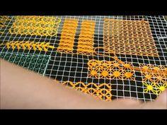 Bordado Filé : Aula 11 - Ponto olho de pombo coberto - YouTube Tenerife, Hardanger Embroidery, Lacemaking, Loom Weaving, Loom Knitting, Needlepoint, I Am Awesome, Diy And Crafts, Stitch