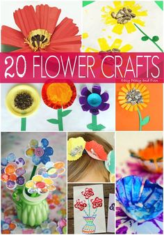 20 Flower Crafts for Kids