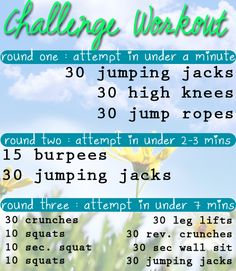 10 Minute Challenge Workout
