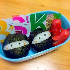 今日はお弁当ではなく軽食の日なのでニンニン! - 38件のもぐもぐ - SDで見かけた忍者おにぎり☆ by eriebi216