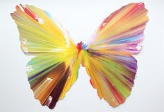 Butterfly Spin Painting (Created at Damien Hirst Spin Workshop) by Damien Hirst on artnet Auctions
