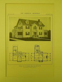 House of P. E. Graff, Ten Hills, MD, 1914, Lithograph. Walter M. Gieske.