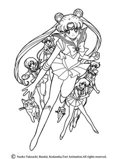sailor moon coloring pagewho knows could make a pretty decent outline for a tattoo lol