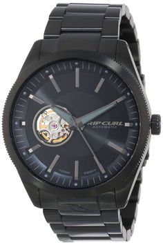 Rip Curl Men's – BLK Civilian Automatic Midnight Black Analog Surf Watch Surf Watch, Always On Time, Amazing Watches, Fitness Activities, Rip Curl, Automatic Watch, Casio Watch, Surfing, Fitness Products