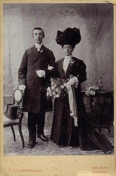 black wedding dress circa 1900