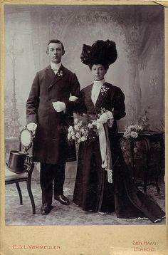 black wedding dress circa 1900