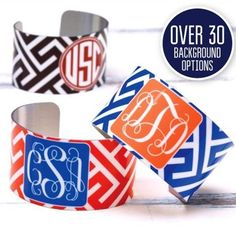 Monogram Cuff Bracelets for only $15?  Yes please!