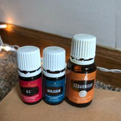 15ml Cedarwood  5ml Marjoram 5ml R.C.   Young Living Essential oils   See pictures for oil levels  Willing to bundle with other items in my store Young Living Essential Oils, Fragrance, Personal Care, Pure Products, Bottle, Beauty, Self Care, Personal Hygiene, Flask