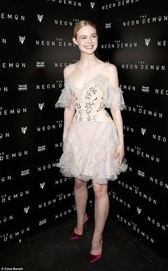Elle Fanning channels a ballerina forNeon Demon's after-party at Cannes | Daily Mail Online