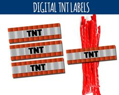 Free Minecraft Printable TNT Labels Clip Art Party Printables