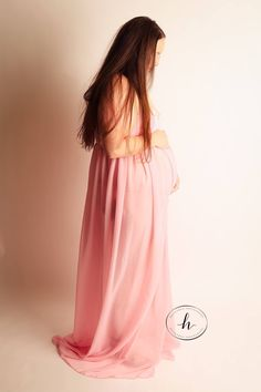 Rachel Gown • Maternity Gown • Chiffon Maternity Gown • Black Maternity Dress • Pink Maxi Dress • Chiffon Maternity Dress • SAVE 20% off with code: PIN20