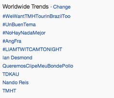 """Liam Twitcam Tonight,"" ""They Don't Know About Us,"" and ""Take Me Home Tour"" is trending worldwide <3"
