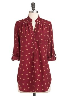 Hosting for the Weekend Tunic in Merlot - Modcloth. Purty color.