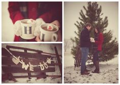 Fun Winter Save the Date session from A | L Photography - Ashlee Layne