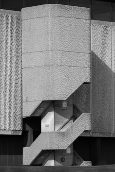 Horizon Building stairs. Nottingham, March 2014.